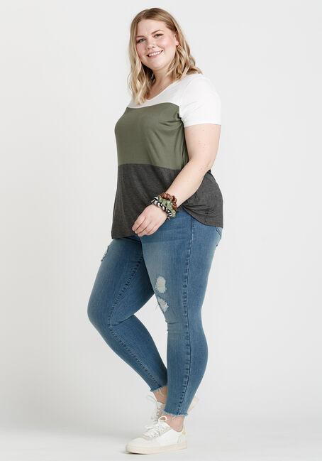 Women's Twist Hem Top, MOSS, hi-res