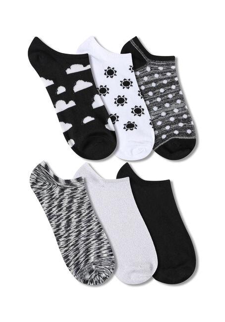 Ladies' 6 Pair Sky Socks