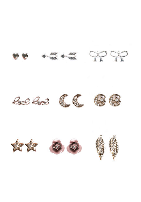 Ladies' 9 Pair Earring Set