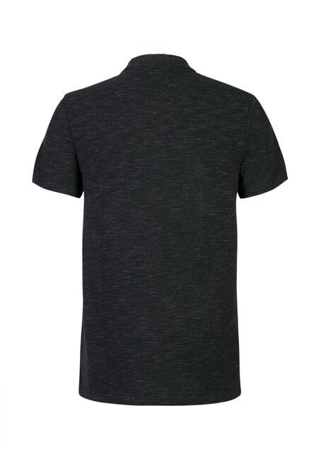 Men's Pique Polo Shirt, BLACK, hi-res