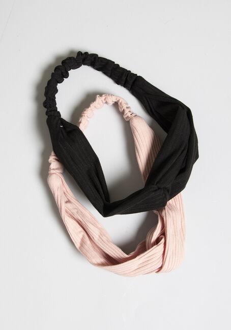 Women's Headband Set, BLACK, hi-res