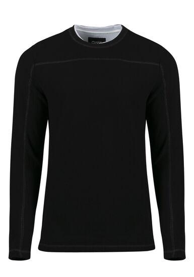 Men's Crew Neck Sweater, BLACK, hi-res