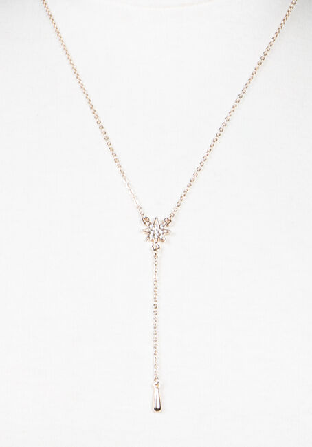 Women's Y Neck Necklace, ROSE GOLD, hi-res