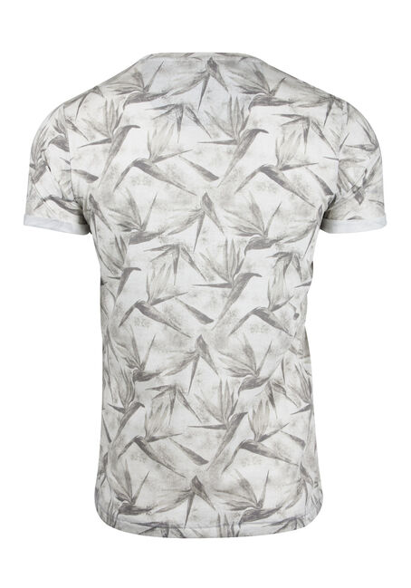 Men's Tropical Crew Neck Tee, GREY, hi-res