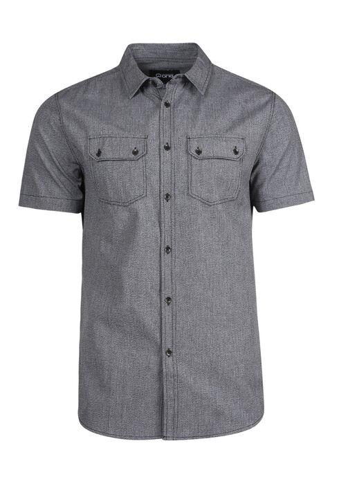 Men's Textured Shirt, GREY, hi-res