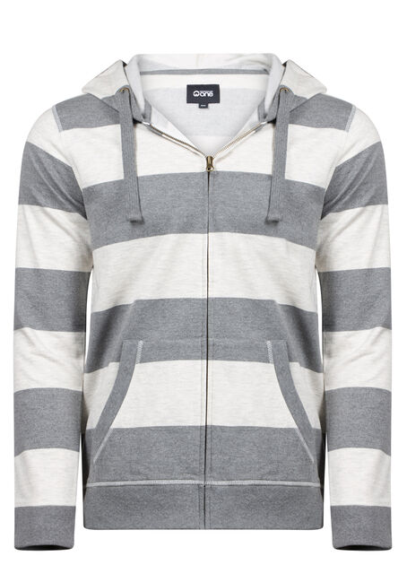 Men's Striped Zip Up Hoodie