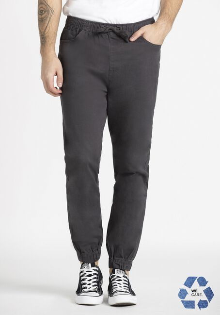 Men's 5 Pocket Dark Grey Twill Jogger