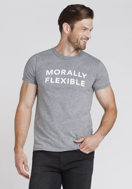Men's Morally Flexible Tee, GRAPHITE HEATHER, hi-res