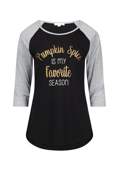 Womens Pumpkin Spice Baseball Tee