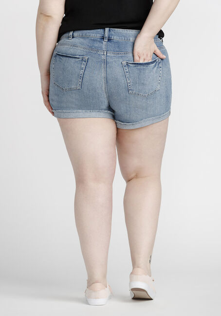 Women's Plus Size Destroyed Short, LIGHT WASH, hi-res
