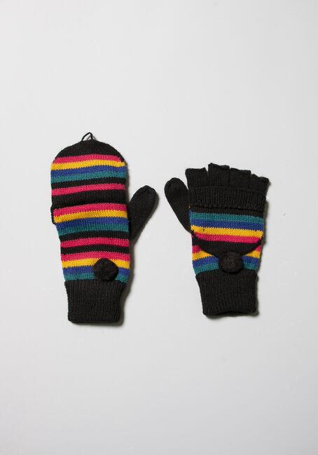 Women's Stripe Flip Mittens