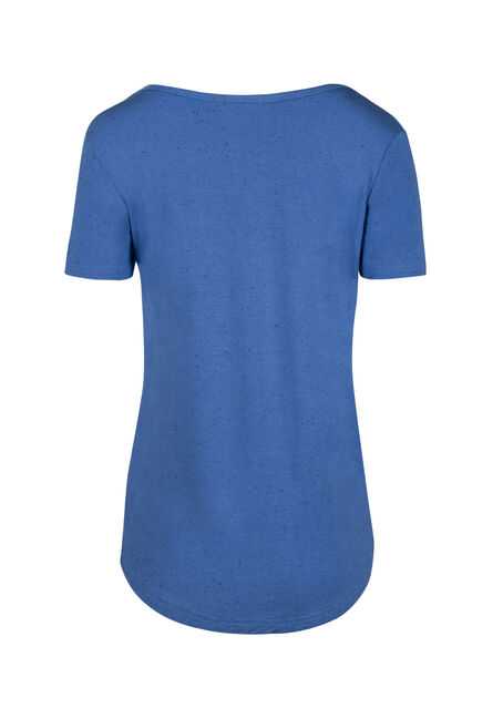 Women's Speckle V-neck Tee, ISLAND BLUE, hi-res