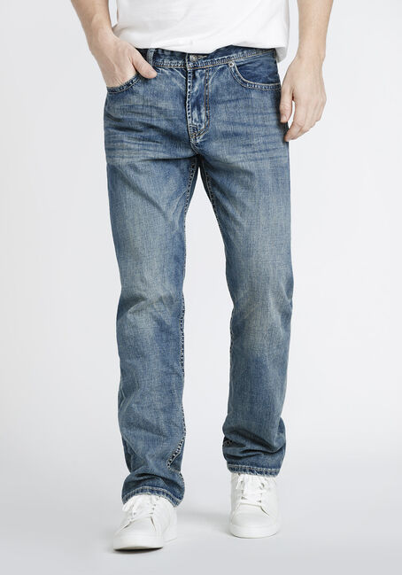 Men's Vintage Wash Relaxed Straight Jeans