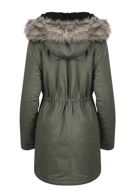 Ladies' Utility Parka, OLIVE, hi-res
