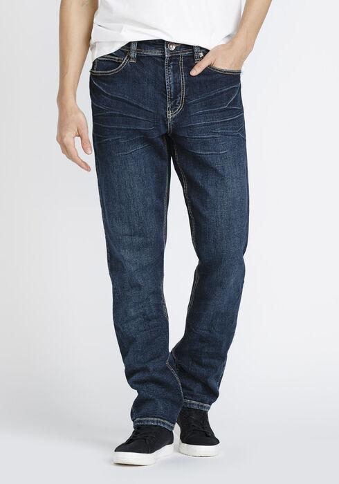Men's Athletic Jeans, DARK WASH, hi-res