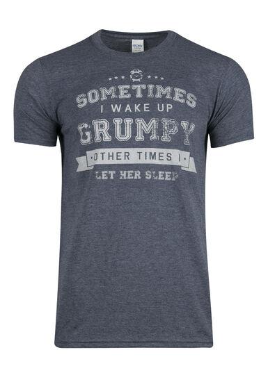 Men's Grumpy Tee, HEATHER NAVY, hi-res