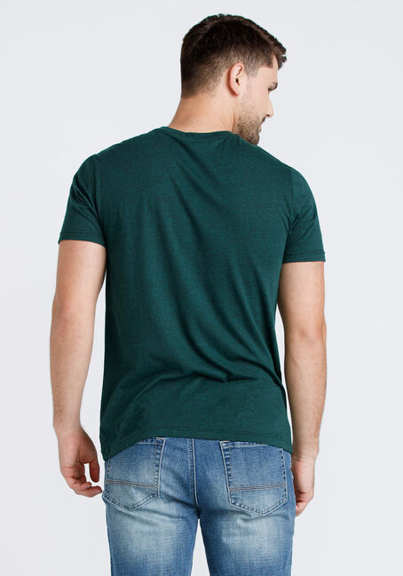Men's Everyday Heathered Tee, FOREST GREEN, hi-res