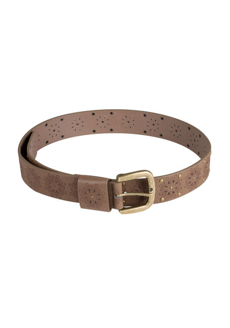 Ladies' Floral Embossed Belt
