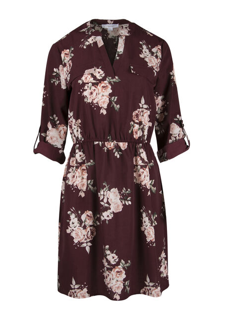 Ladies' Floral Shirt Dress