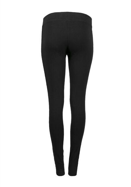 Ladies' Lace Insert Legging, BLACK, hi-res