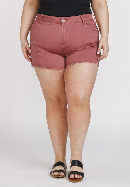 Women's Plus Size Frayed Hem Not-So-Short Short