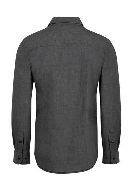 Men's Relaxed Chambray Shirt, CHARCOAL, hi-res