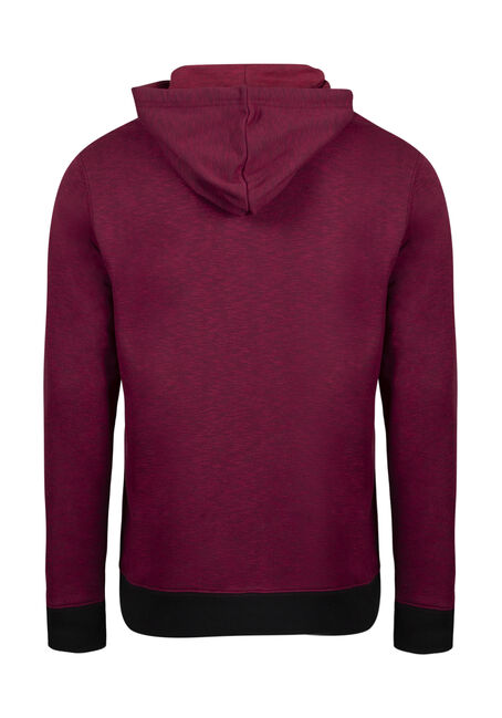Men's Space Dye Popover Hoodie, CRIMSON, hi-res