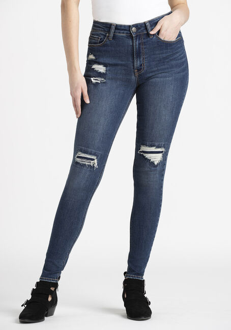 Women's  Rip & Repair High Rise Skinny Jeans