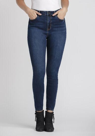 Women's Power Sculpt High Rise Skinny Jeans, DARK WASH, hi-res