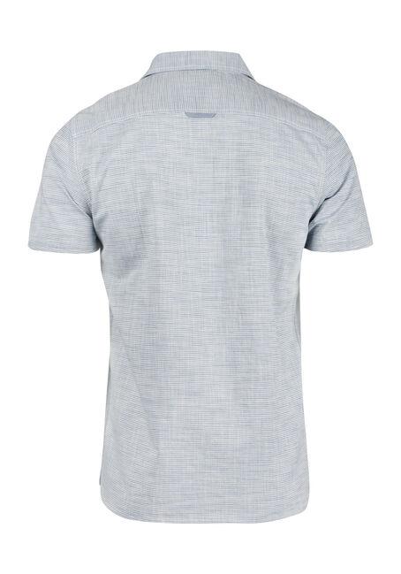 Men's Stripe Linen Shirt, MEDIUM BLUE, hi-res