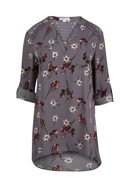 Ladies' Floral Lace Tunic Top