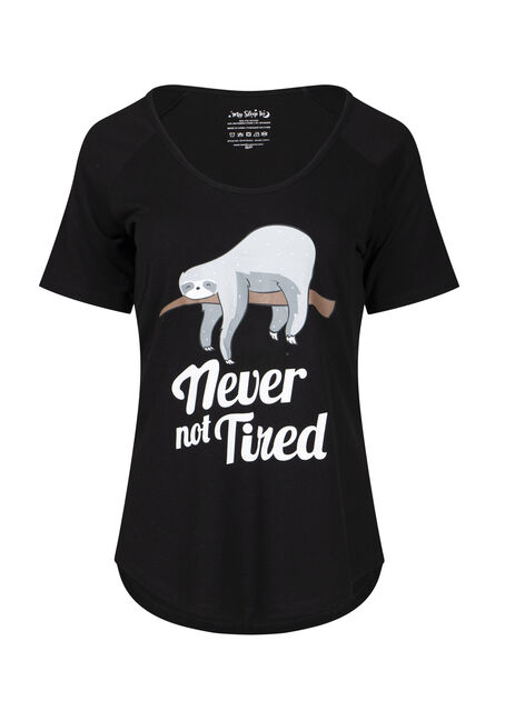 Women's Never Not Tired Sloth Sleep Tee