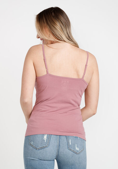 Women's Adjustable Strappy Tank, PEONY PINK, hi-res