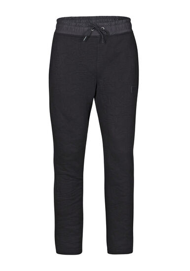 Men's Embossed Fleece Pant, BLACK, hi-res