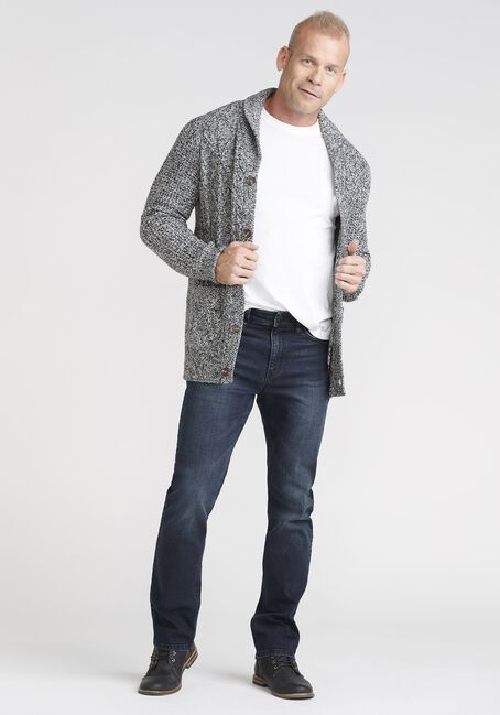 Men's Marled Cardigan Sweater, GREY TWIST, hi-res