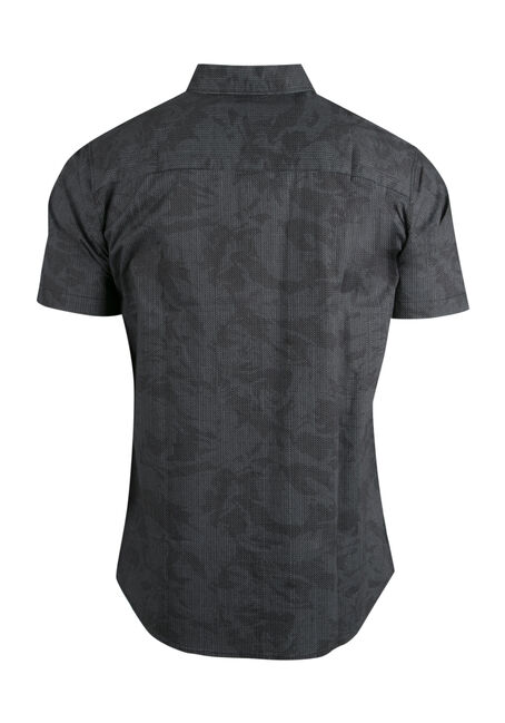 Men's Comfort Stretch Camo Shirt, BLACK, hi-res