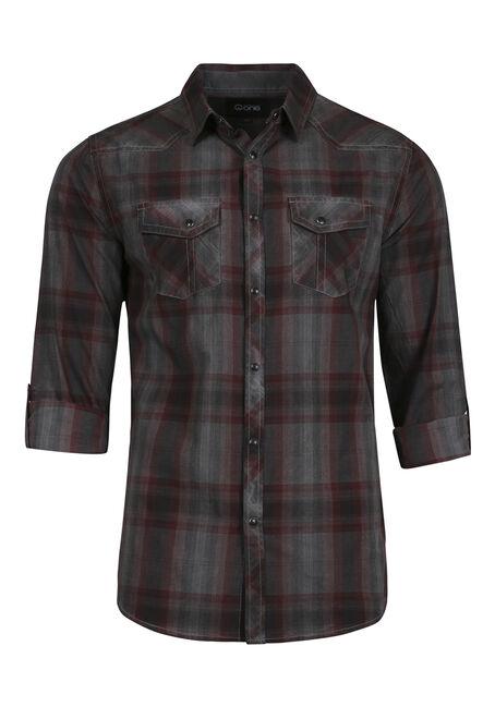 Men's Washed Plaid Shirt