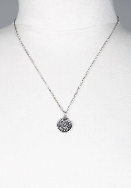 Virgo Pendant Necklace, SILVER, hi-res