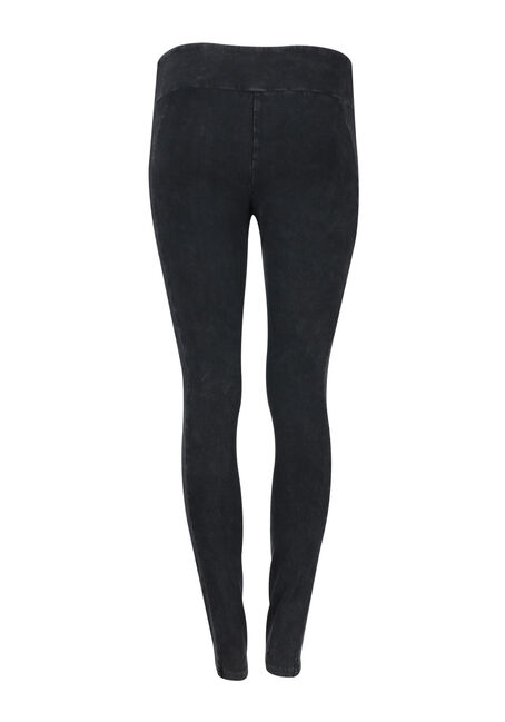 Ladies' Moto Legging, BLACK, hi-res