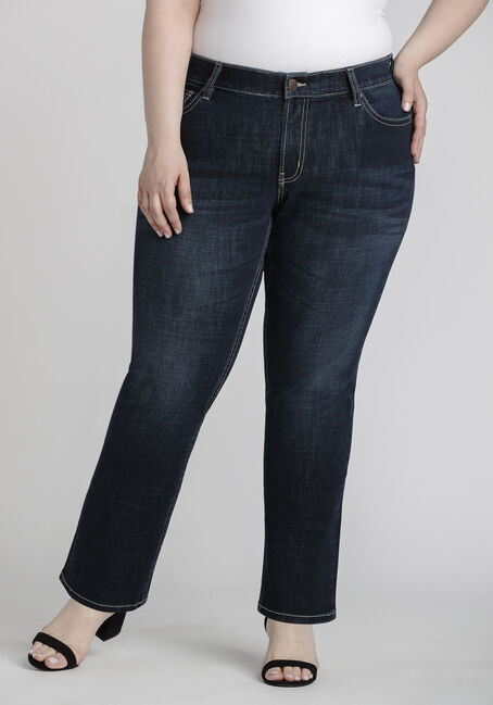Women's Plus Size Dark Wash Curvy Bootcut jeans