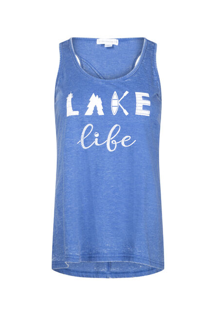 Women's Lake Life Keyhole Tank