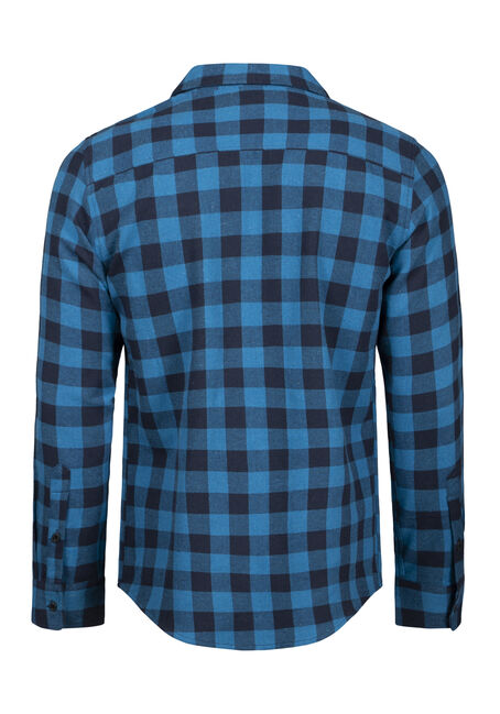 Men's Plaid Flannel Shirt, BLUEGRASS, hi-res