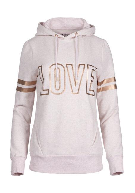 Ladies' Love Foil Print Hoodie