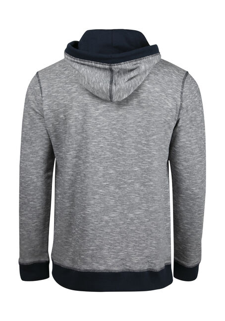 Men's French Terry Hoodie, NAVY, hi-res