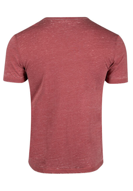 Men's Everyday Split V-Neck Tee, BRICK DUST, hi-res