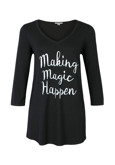 Ladies' Making Magic Happen Tunic, BLACK, hi-res