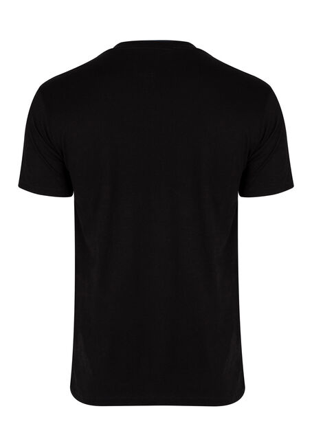 Men's Queen Tee, BLACK, hi-res