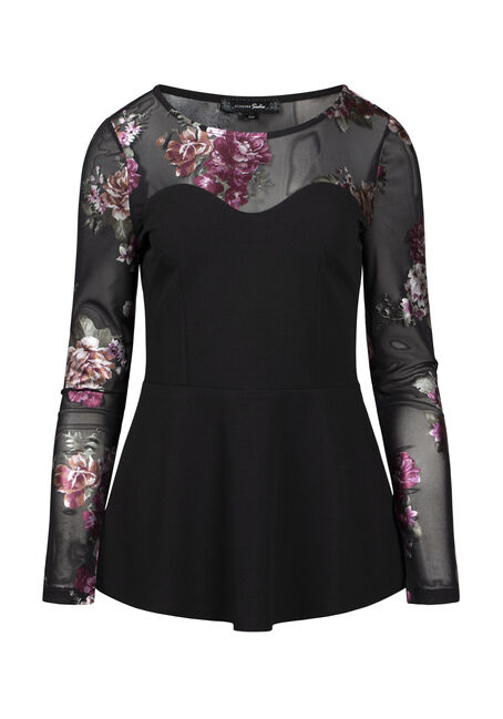 Women's Floral Peplum Top