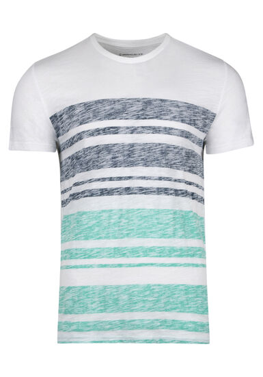 Men's Everyday Stripe Tee, AQUA GREEN, hi-res