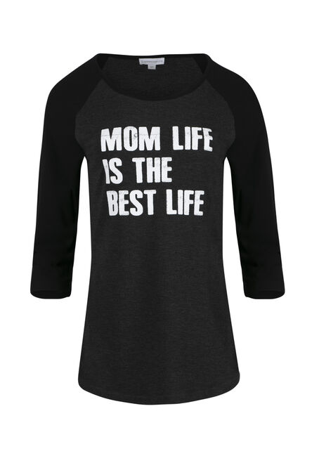 Ladies' Mom Life Best Life Baseball Tee